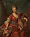 1712 Marguerite-Henriette de La Briffe, comtesse de Selles by Hyacinthe Rigaud (privaye collection)