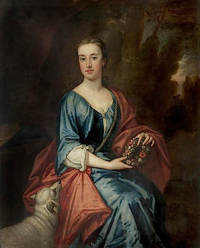 1713 Lady Jane Jackson by Sir Godfrey Kneller (Nottingham City Museums and Galleries - Nottingham UK)