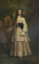 1715 Frances Pierrepont, Countess of Mar by Sir Godfrey Kneller (location unknown to gogm) From jeannedepompadour.blogspot.com:2013:07:riding-habits-1700-1770.html