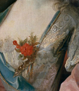 1716 Mary Josephine Drummond, condesa de Castelblanco by Jean Baptiste Oudry (Prado) bodice ornament and fabric