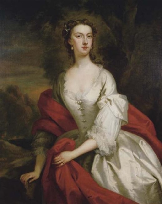 1722 Lady Anne Lennox by John Vanderbank (auctioned by Christie's) From mutualart.com:Artwork:Portrait-of-Lady-Albermarle--three-quart:DEFF3E4E5F9030D3 X 1.5