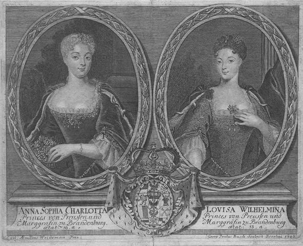 1723 (or earlier) Anna Sophia Charlotte and Louise Wilhelmina From Google search detint
