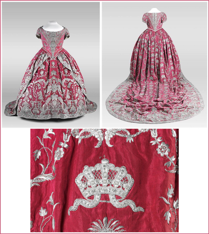 1724 Catherine I coronation  dress (Музеи Московского Кремля. The Moscow Kremlin Museums - Moskva, Russia) From fripperiesandfobs.tumblr.com-post-171289586006-coronation-dress-of-catherine-i-of-russia-1724
