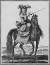 1727-1729 Anne Marie d'Orléans while Duchess of Savoy equestrian portrait by ?