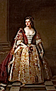 1727 Angelica Magdalena Wharton, née Pelissary (c.1664–1736), 1st Viscountess St John, in Coronation Robes by circle of John Vanderbank (Lydiard House - Lydiard Park Lydiard Tregoze, Swindon, Wiltshire UK)