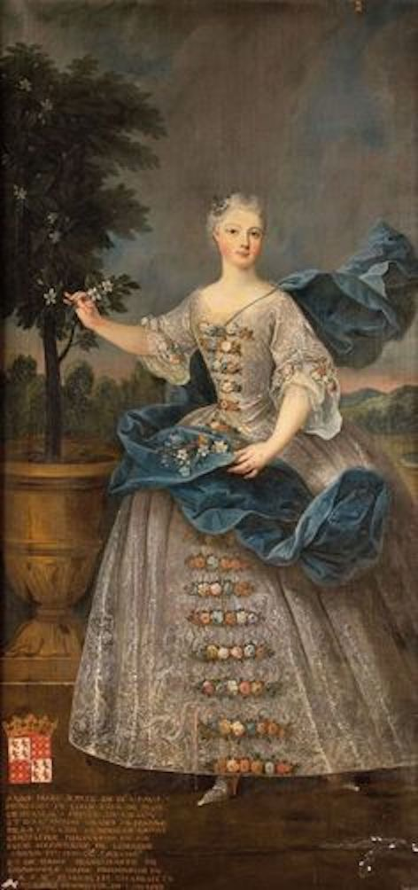 1730 Princesse Anne-Marguerite Gabrielle de Beauvau-Craon, princesse douairière de Lixheim by Pierre Gobert studio (location ?) From pinterest.com:marritdejong96:the-portrait:royals: X 2
