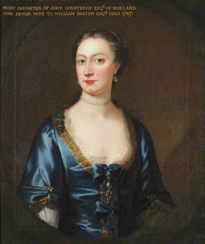 Mary Courtenay (d.1747), Mrs William Paston