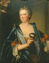 1734 Marie Madeleine Mazade by Hyacinthe Rigaud (location unknown to gogm)