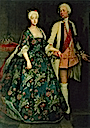 1734 Princess Sophie Dorothea with Friedrich Wilhelm by Antoine Pesne (location unknown to gogm)