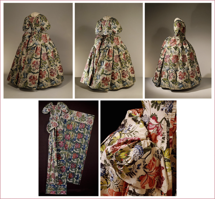 1735-1740 Petticoat mantua dress with train by ? (Victoria & Albert Museum - London, UK) From the museum's Web site