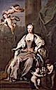 1735 Caroline Wilhelmina of Brandenburg-Ansbach by Jacopo Amigoni (National Portrait Gallery, London)
