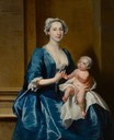 1736 Johanna, Mrs Robert Warner of Bedhampton, and Her Daughter, Kitty (d.1772), Later Mrs Jervoise Clarke Jervoise by Joseph Highmore (Mottisfont Abbey - Mottisfont, near Romsey, Hampshire, UK) bbc.co