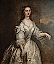1737 Catherine Collingwood (d.1761), Lady (Robert) Throckmorton by John Vanderbank (Coughton Court - Alcester, Warwickshire UK)