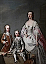 1738-1740 Mary Assheton (1695–1776), Lady Curzon, with her sons by Andrea Soldi (Kedleston Hall and Eastern Museum - Derby, Derbyshire UK)