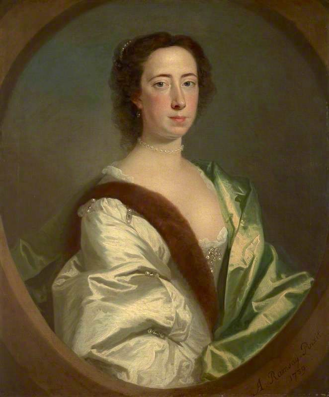 1739 Lady Lucy Manners (1717–1788), Duchess of Montrose by Allan Ramsay (National Galleries of Scotland, Scottish National Gallery - Edinburgh, UK) From artuk.org shadows