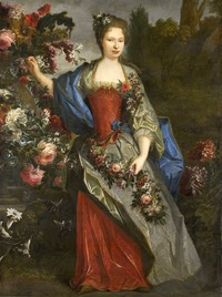 1740 (?) Marie Louise Elisabeth d'Orléans, duchesse de Berry, as Flora by school of Nicolas de Largillière (Rijksmuseum - Amsterdam, Holland)