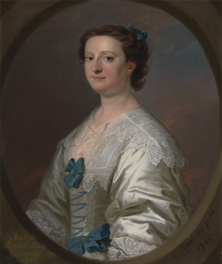1740 Arabella Pershall, Lady Glenorchy by m. John Campbell by Allan Ramsay (Yale University, Yale Center for British Art - New Haven, Connecticut, USA) Google Art Project via Wm