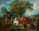 1740 Picnic after the hunt by Nicolas Lancret (National Gallery of Art - Washington, DC USA)