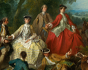 1740 Picnic after the hunt by Nicolas Lancret (National Gallery of Art - Washington, DC USA) close up