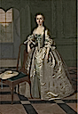 1740-1741 Lady in a Drawing Room by Arthur Devis (Yale Center for British Art - New Haven, Connecticut USA)