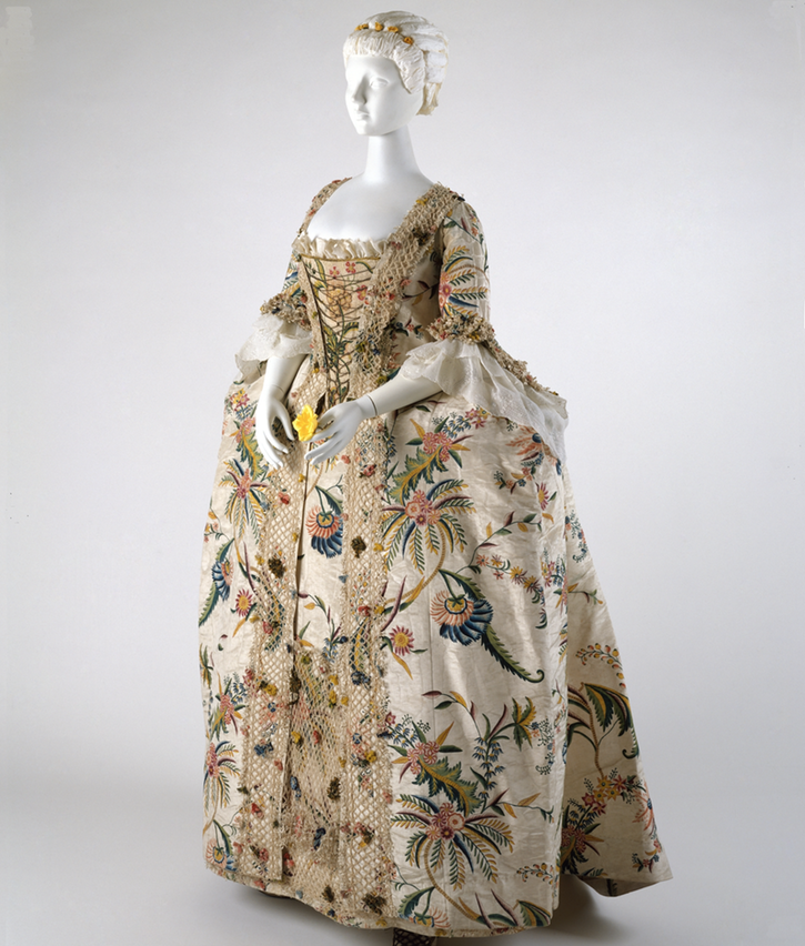 1740s British robe à la Française (Metropolitam Museum of Art - New York City, New York, USA) From museum Web site