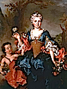 1741 Françoise d'Escravayat, Marquise de la Barrière, as Flora by Nicolas de Largillière (sold by Stair Sainty)