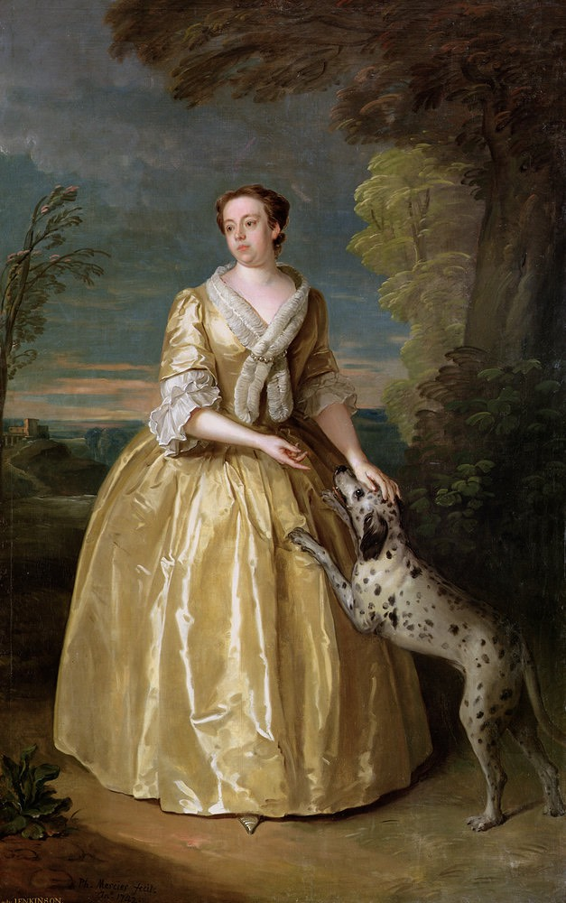 1742 Henrietta, Lady Jenkinson by Philippe Mercier (Temple Newsam House - Leeds, West Yorkshire, UK) UPGRADE From pinterest.com:donaldbeaubier:18th-century-female-portraits: