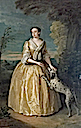 1742 Henrietta, Lady Jenkinson by Philippe Mercier (Temple Newsam House - Leeds, West Yorkshire UK)