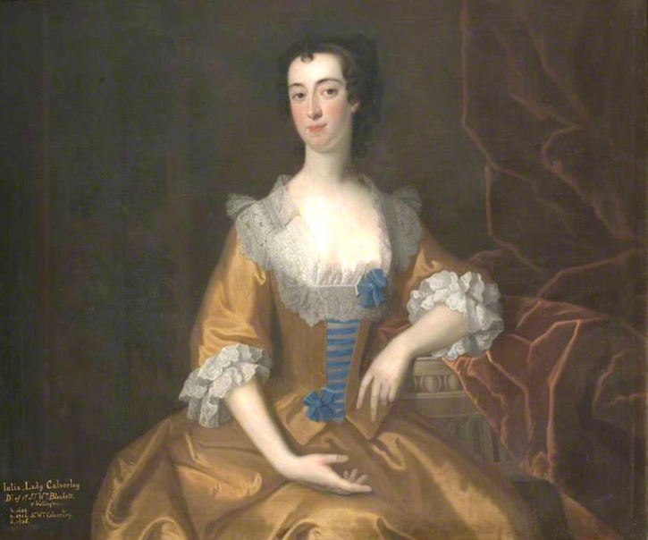 1743 Isabella Blackett (d. 1763), Countess of Buchan, by Enoch Seeman the Younger (Wallington Hall - Wallington, Northumberland, UK) bbc.co filled in shadows