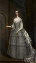 1734 Lady Frances Montagu in bridesmaid dress for royal wedding of Princess Royal Anne by Charles Jervas (private collection)