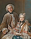 1743 François de Jullienne and his wife Marie Élisabeth (née de Séré de Rieux) by Charles Antoine Coypel (Metropolitan Museum of Art - New York City, New York USA)