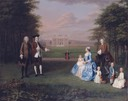 1745-1747 Robert and Elizabeth Gwillym and their family, of Atherton Hall, Herefordshire by Arthur Devis (Yale Center for British Art - New Haven, Connecticut USA)