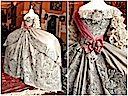 1745 Catherine the Great's wedding dress two views