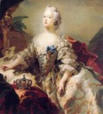 1747 Louise, Frederik V's first Queen, in her coronation robes by Carl Gustaf Pilo (Statens Museum for Kunst - København, Denmark)
