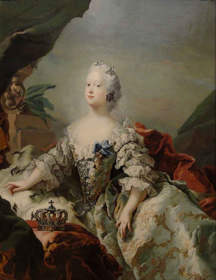 1747 Louise, Frederik V's first Queen, in her coronation robes by Carl Gustaf Pilo (Statens Museum for Kunst - København, Denmark) Photo - Daderot Wm