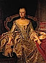 1747 Henriette Marie of Brandenburg-Schwedt (1702-1782), Duchess of Württemberg by Georg Lisiewski (auctioned)