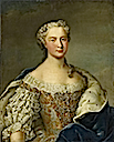 1747 Marie Josèphe de Saxe, Dauphine de France by Daniel Klein the Younger (location unknown to gogm)