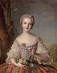 1748 Princess Louise-Marie of France by Jean-Marc Nattier (Versailles)