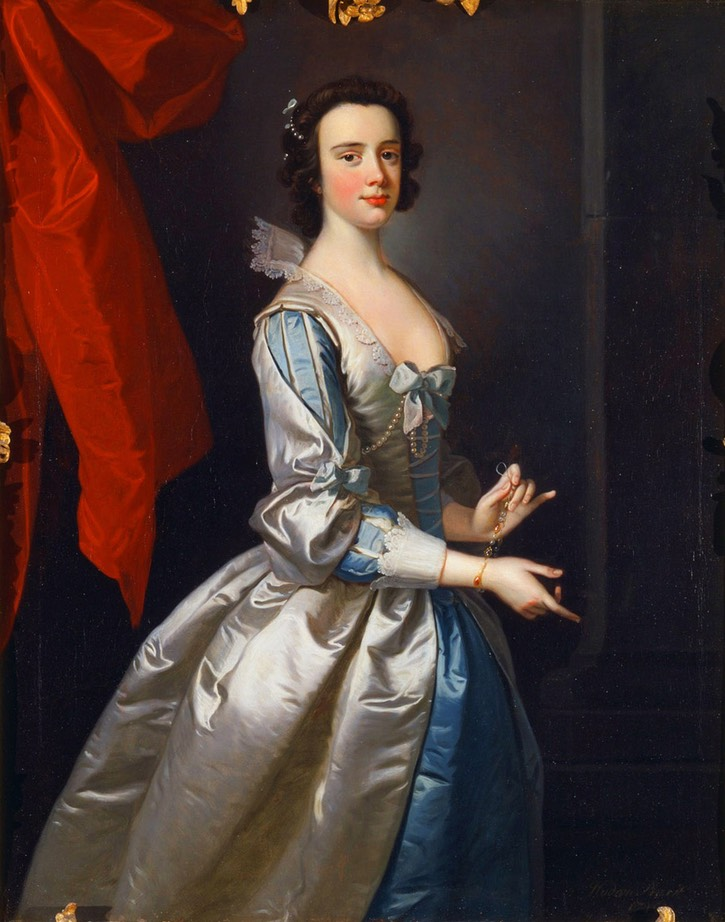 1749 Probably Elizabeth Aislabie, of Studley Royal, Yorkshire, by Thomas Hudson (Yale Center for British Art, Yale University - New Haven, Connecticut, USA) From centuriespast.tumblr.com/post/40008250183/jaded-mandarin-portrait-of-a-woman-probably
