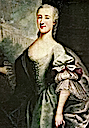 1749-1750 Izabela Poniatowska by Anton Tallmann fragment (Tykocin Parish Church - Tykocin Poland)