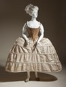 1750-1780 Stays and hoop petticoat (Los Angeles County Museum of Art - Los Angeles, California USA)