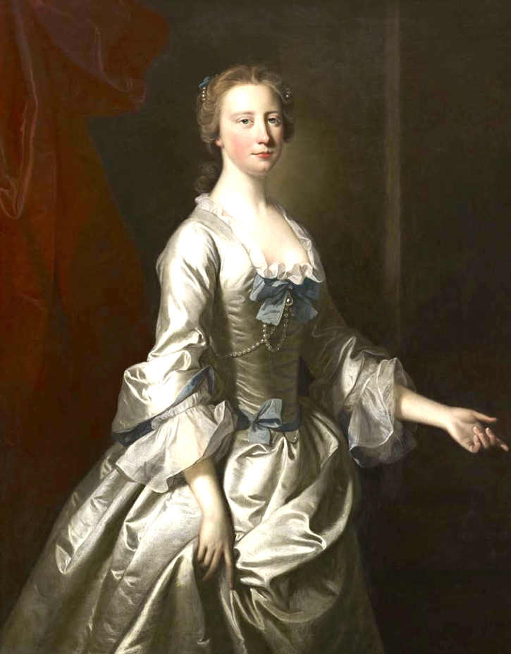 1750 Sarah Bridgeman by Allan Ramsay (private collection) From the Bourne Fine Art catalog