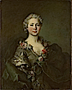 """1750s"" Mademoiselle de Coislin by Louis Tocqué (National Gallery - London UK)"