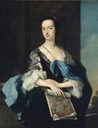 1751 (?) Lady Elizabeth Yorke (1725–1760), Lady Anson, Holding a Drawing of Dante by Carlo Dolci by Thomas Hudson (Shugborough Hall - Great Haywood, Staffordshire UK)