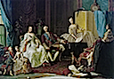 1751 (estimated to be a few years later) Louise Elisabeth of France with family by Giuseppe Baldrighi (Galleria Nazionale, Parma)