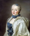 1753 Françoise Marguerite de Sévigné, Countess de Grignan by Alexander Roslin (auctioned by Stockholms Auktionsverk) Wm background blurred