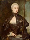 1753 Gräfin Juliane Wilhelmine von Bose, geb. Gräfin zu Putbus, als Pilgerin mit Zinnteller by Christian Friedrich Reinhold Lisiewski (auctioned) From Pinterest search X 1.25
