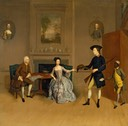 1754-1756 Anne Orde, John Orde, and his eldest son William by Arthure Devis (Yale Center for British Art - New Haven, Connecticut USA)