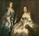 1754 Martha Tyrrell (d.1768), Lady Drury, and Her Daughter, Mary Ann Drury (1740–1769), later Countess of Buckingham attributed to Thomas Hudson (Blickling Hall - Blickling, Norwich, UK)