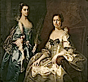 1754 Martha, Lady Drury and her daughter Mary, Countess of Buckinghamshire attributed to Thomas Hudson (Blickling Hall - Aylsham Norfolk UK)